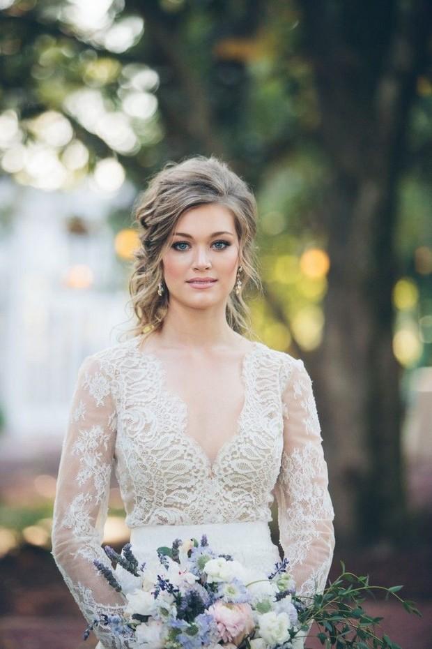 Свадебная прическа 2016: фото 38
