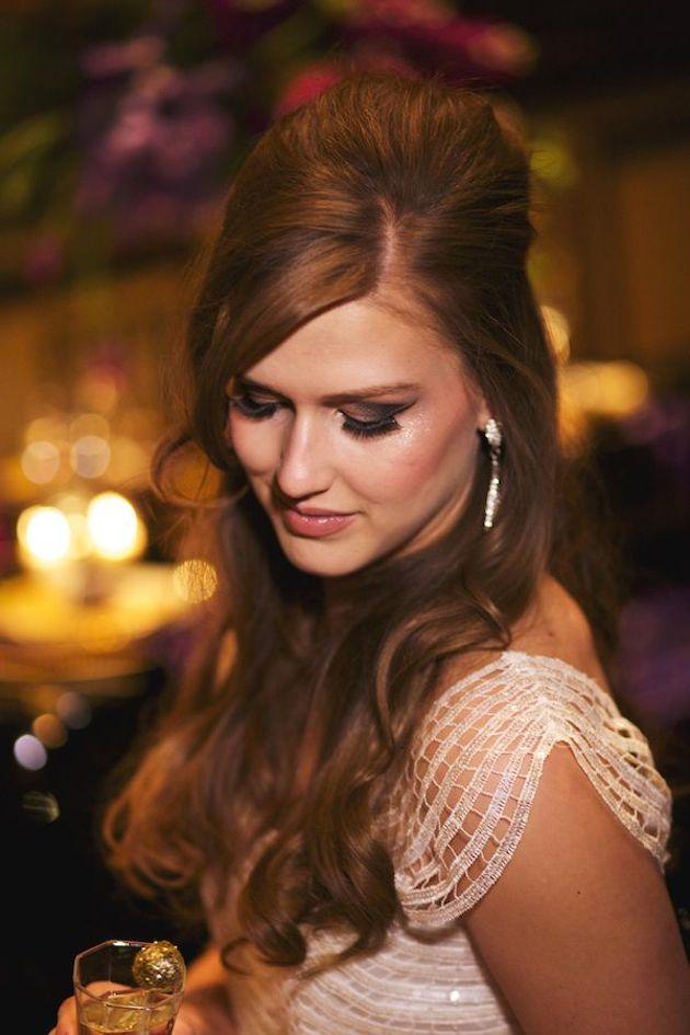 свадебные прически на полураспущенные волосы: фото 4