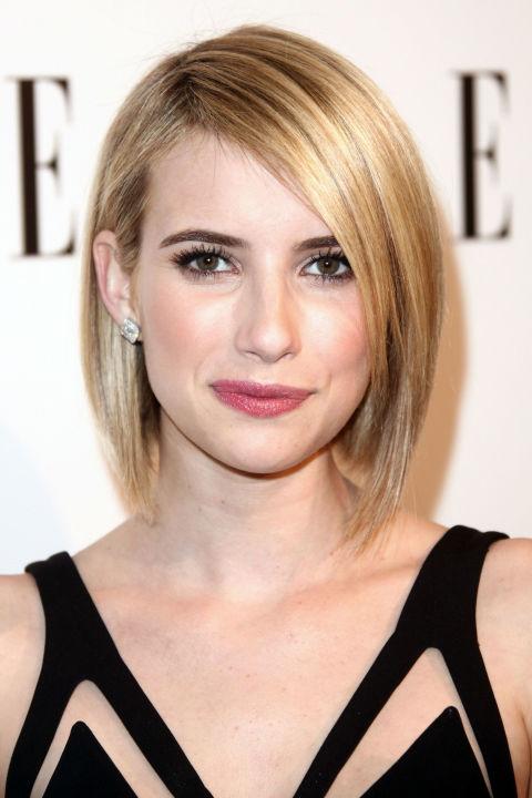 17 идеальных стрижек для блондинок: Эмма Робертс