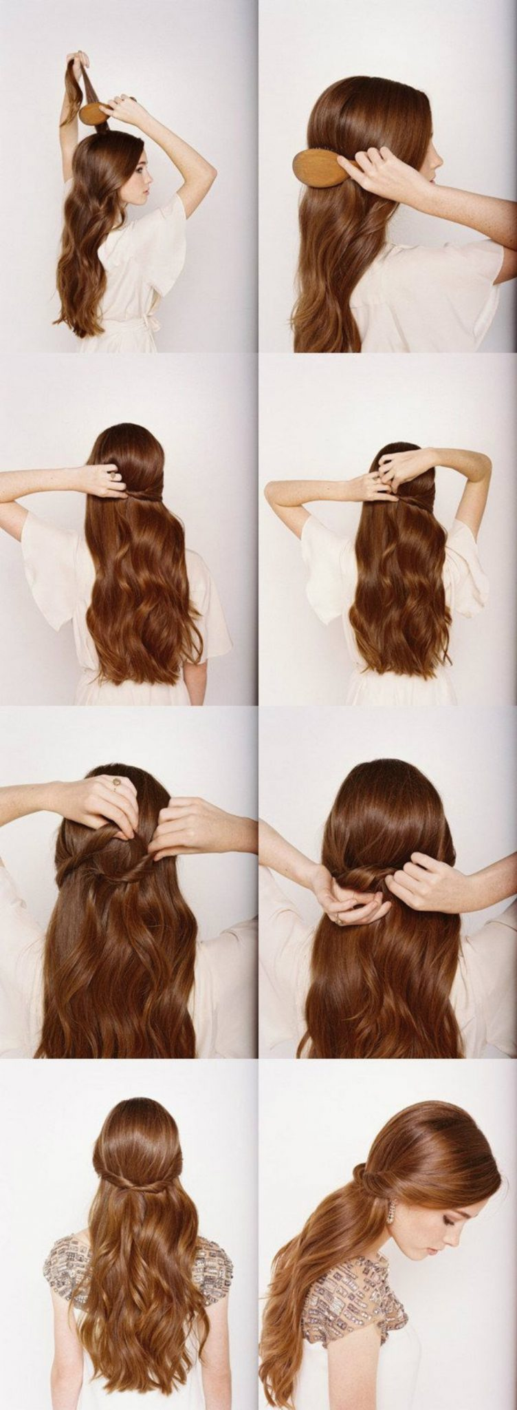 Идеальная укладка для полураспущенных волос
