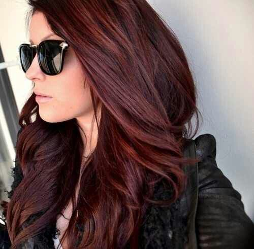 Цвет бургунди волос фото
