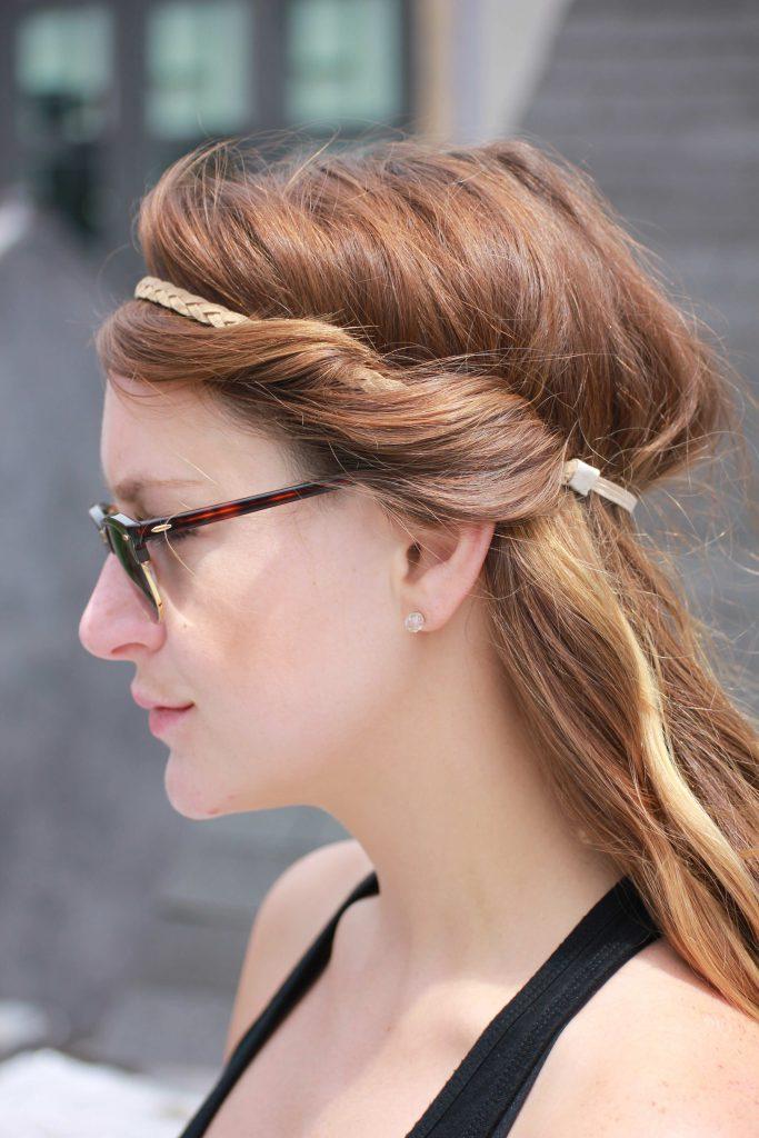 Волосы с ободком