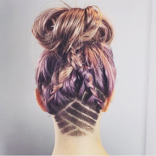прически с помощью мелков для волос: фото 47