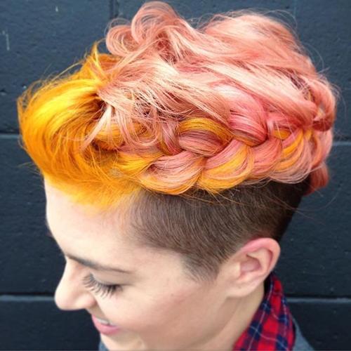 прически с помощью мелков для волос: фото 44