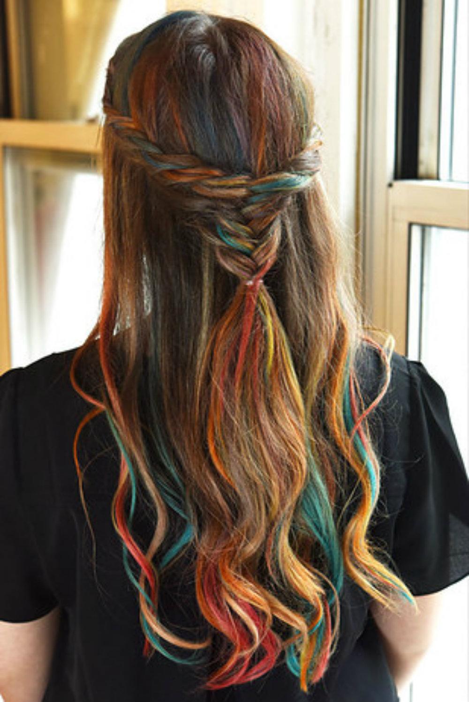 Прически с мелками для волос: фото 20