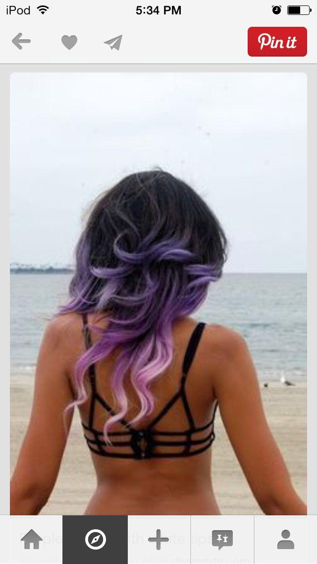 Purple-and-white-ombre
