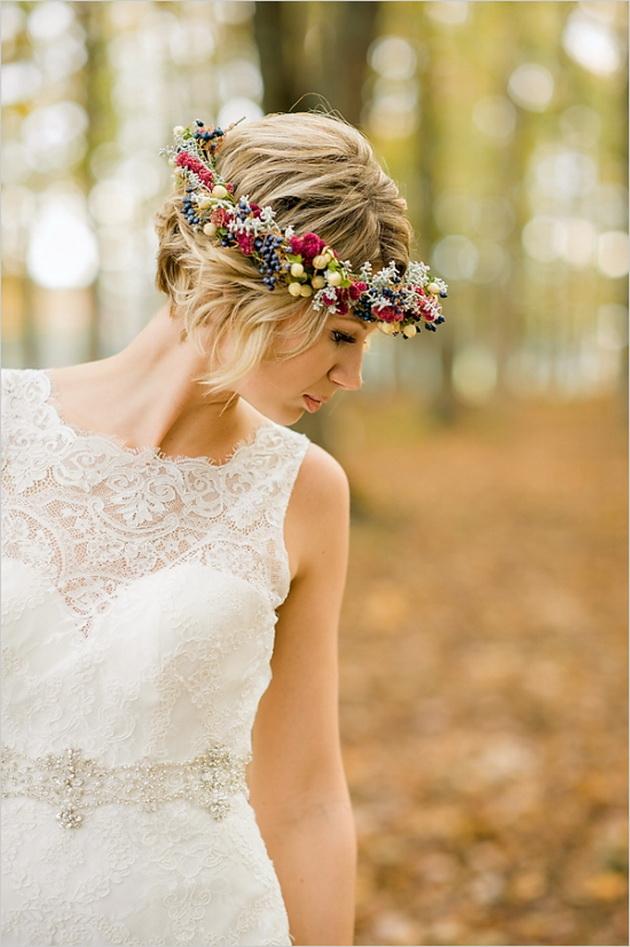 ободок из цветов на свадьбу