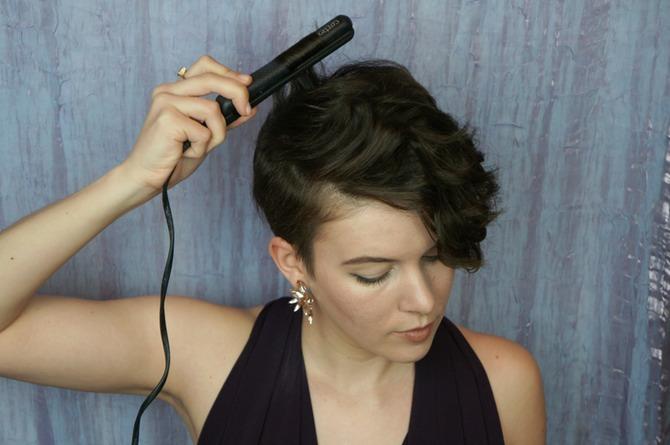 укладки для коротких волос: фото: кудри1
