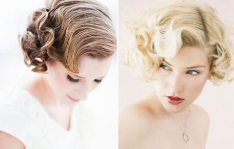 свадебные прически на короткие волосы: фото 41