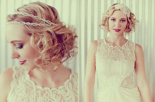 свадебные прически на короткие волосы: фото 65
