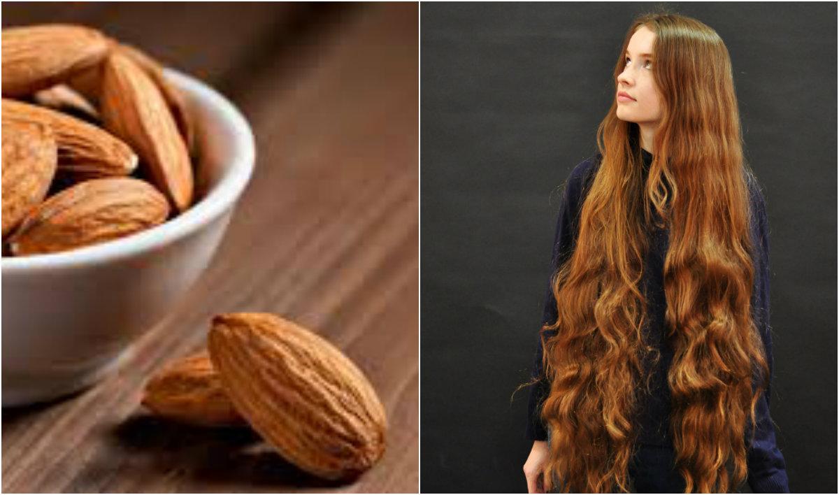 продукты для роста волос: миндаль