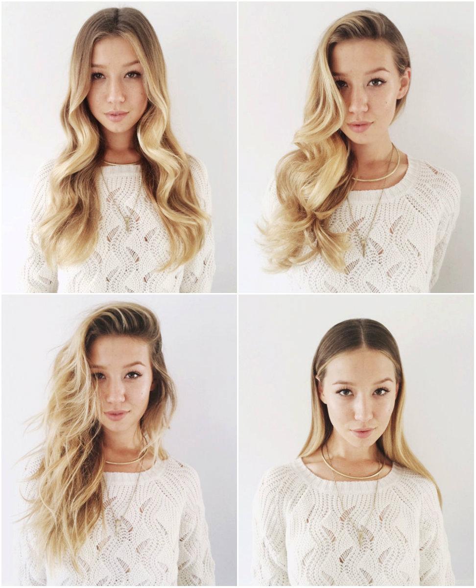 Как изменить прическу на длинные волосы