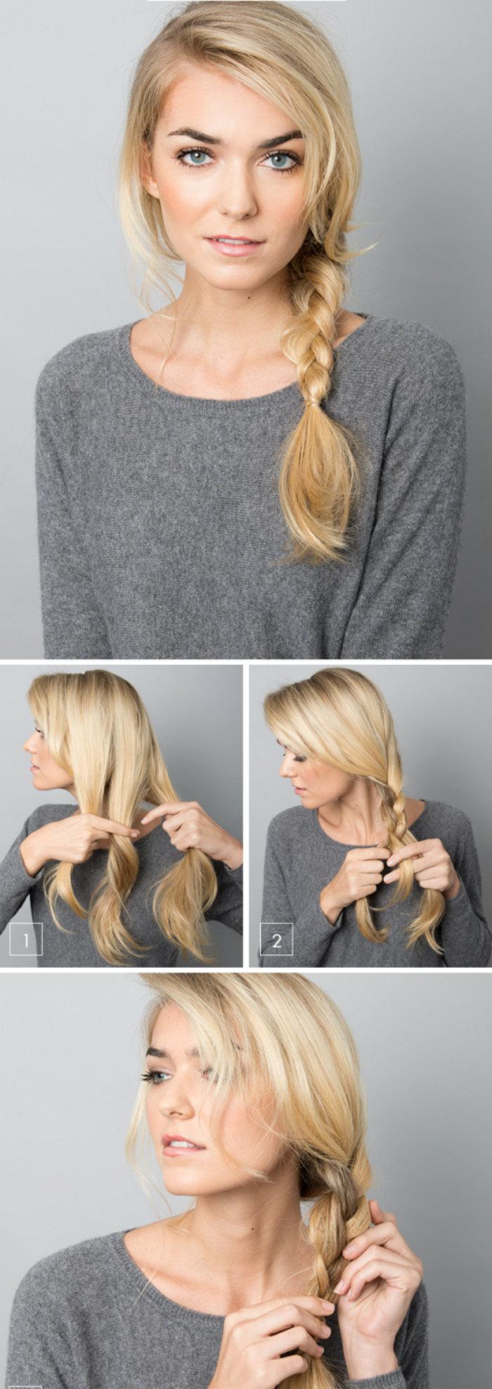 коса на сторону