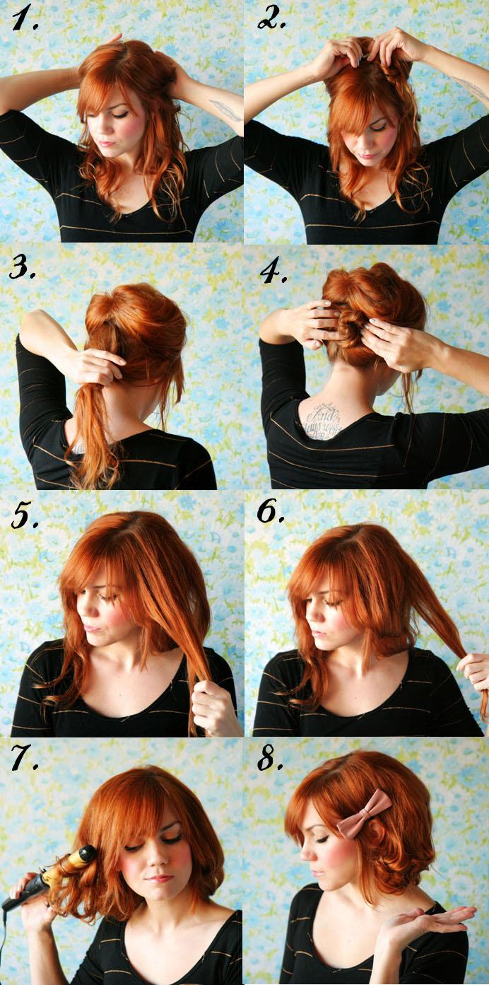 Из длинных волос короткие фото 2