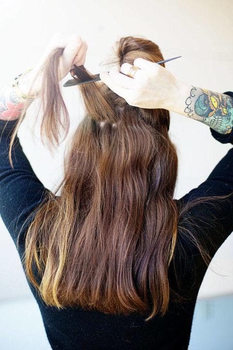 Накладные волосы шаг четвертый