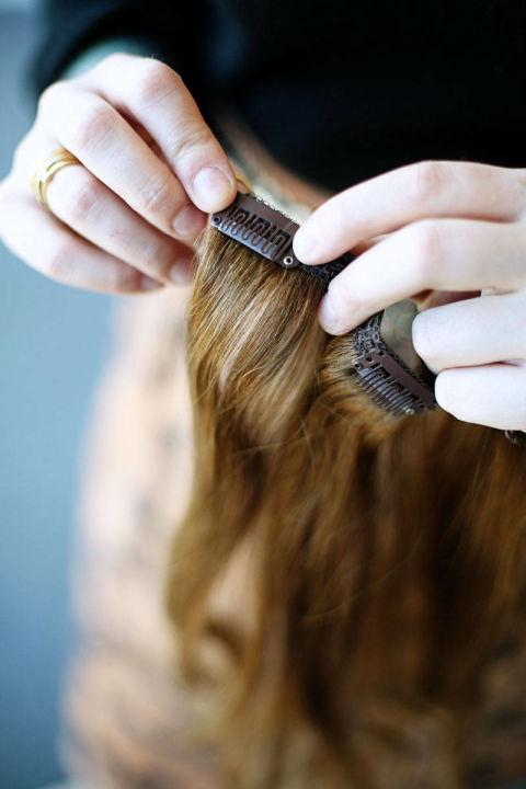 Накладные волосы шаг пятый
