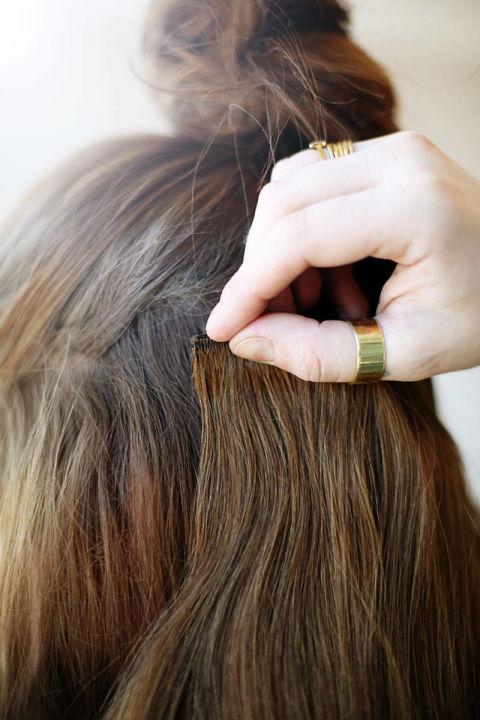 Накладные волосы шаг шестой