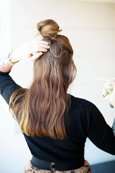 Накладные волосы шаг третий