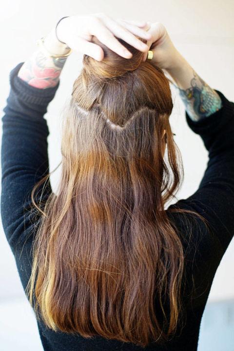 Накладные волосы шаг второй