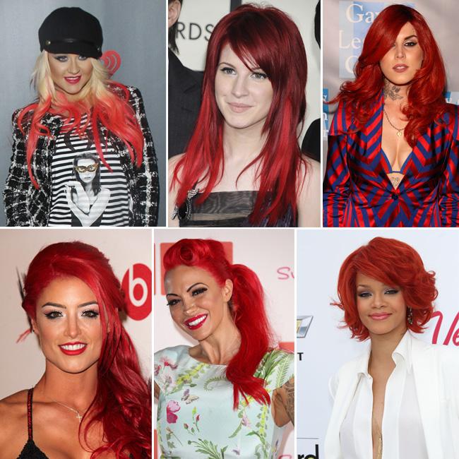 Цветные волосы знаменитостей: фото 5