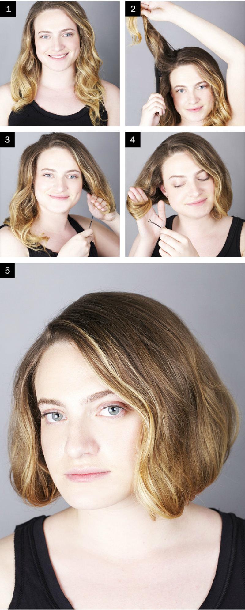 Как сделать причёску короткие волосы