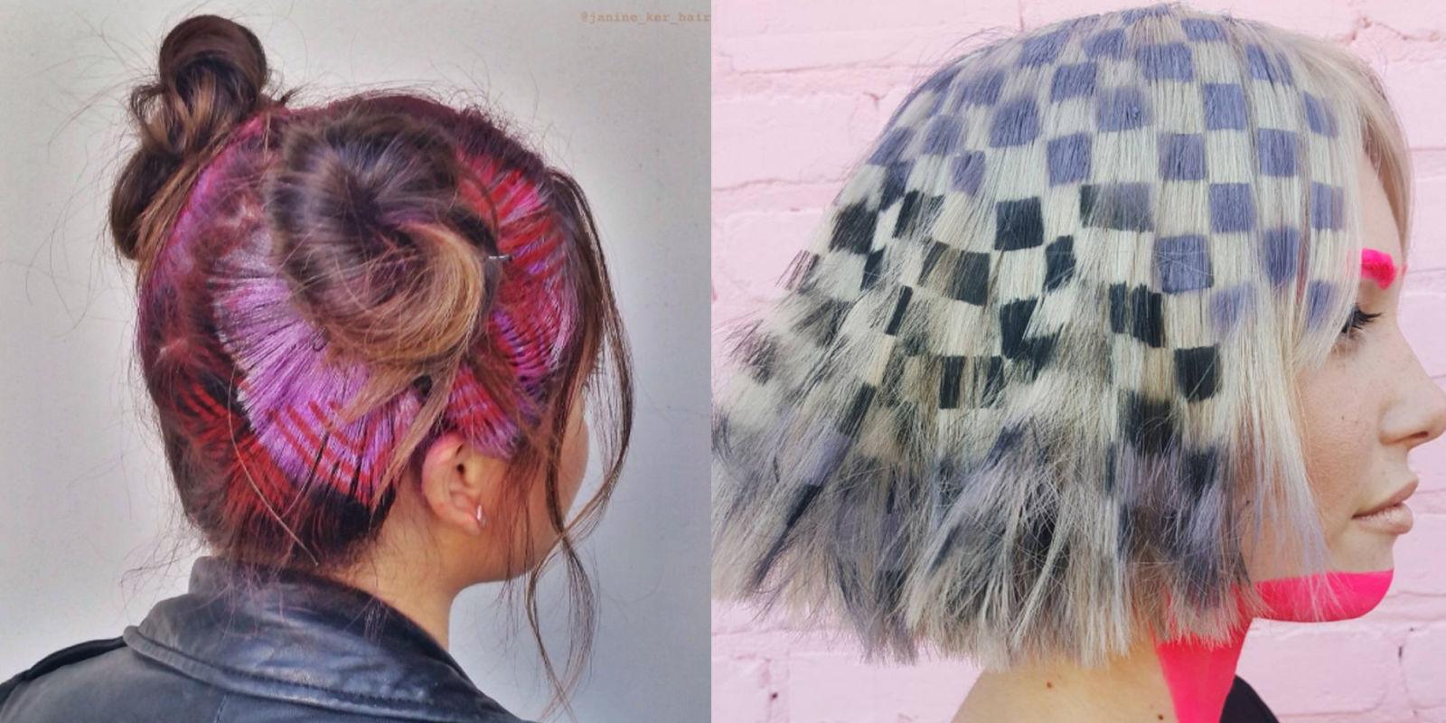 рисунки на волосах: фото 31