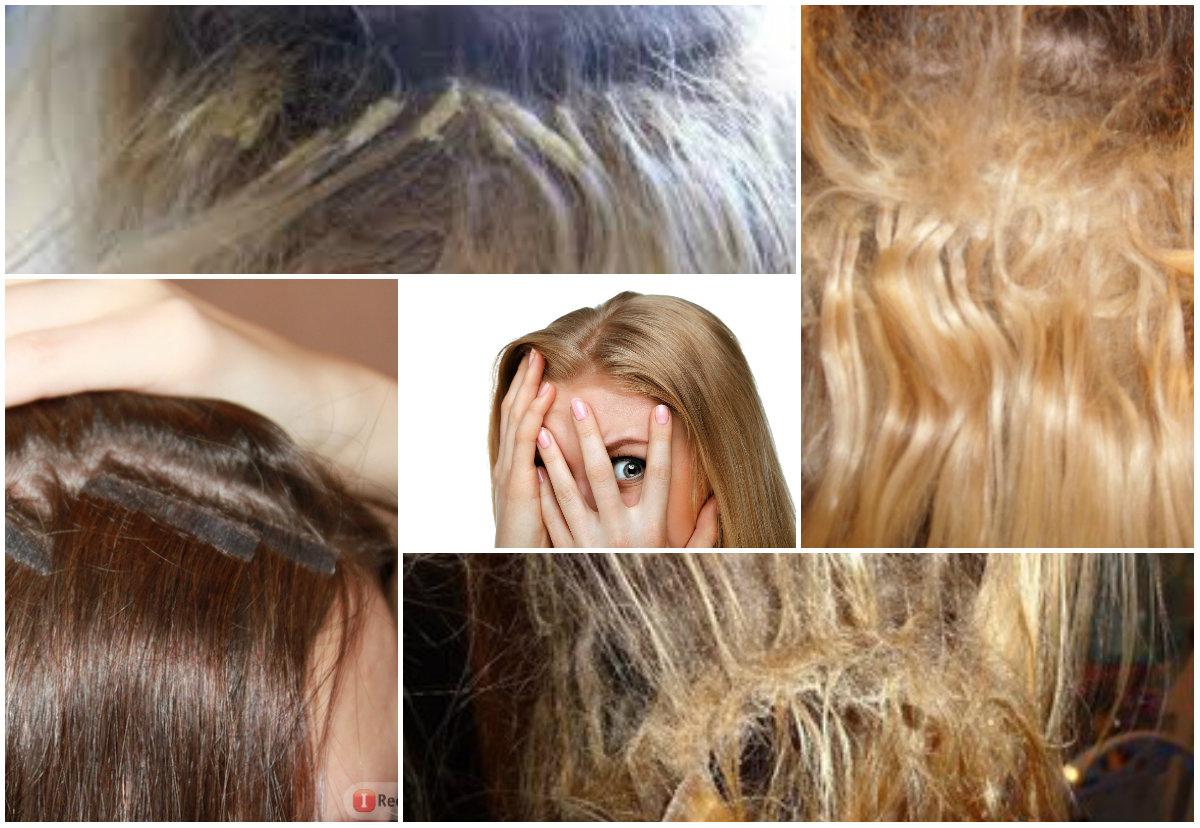неудачное наращивание волос