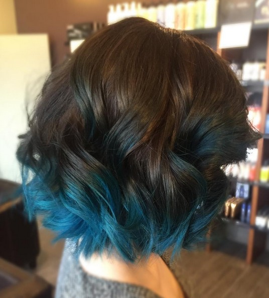 омбре на коротких волосах фото 14