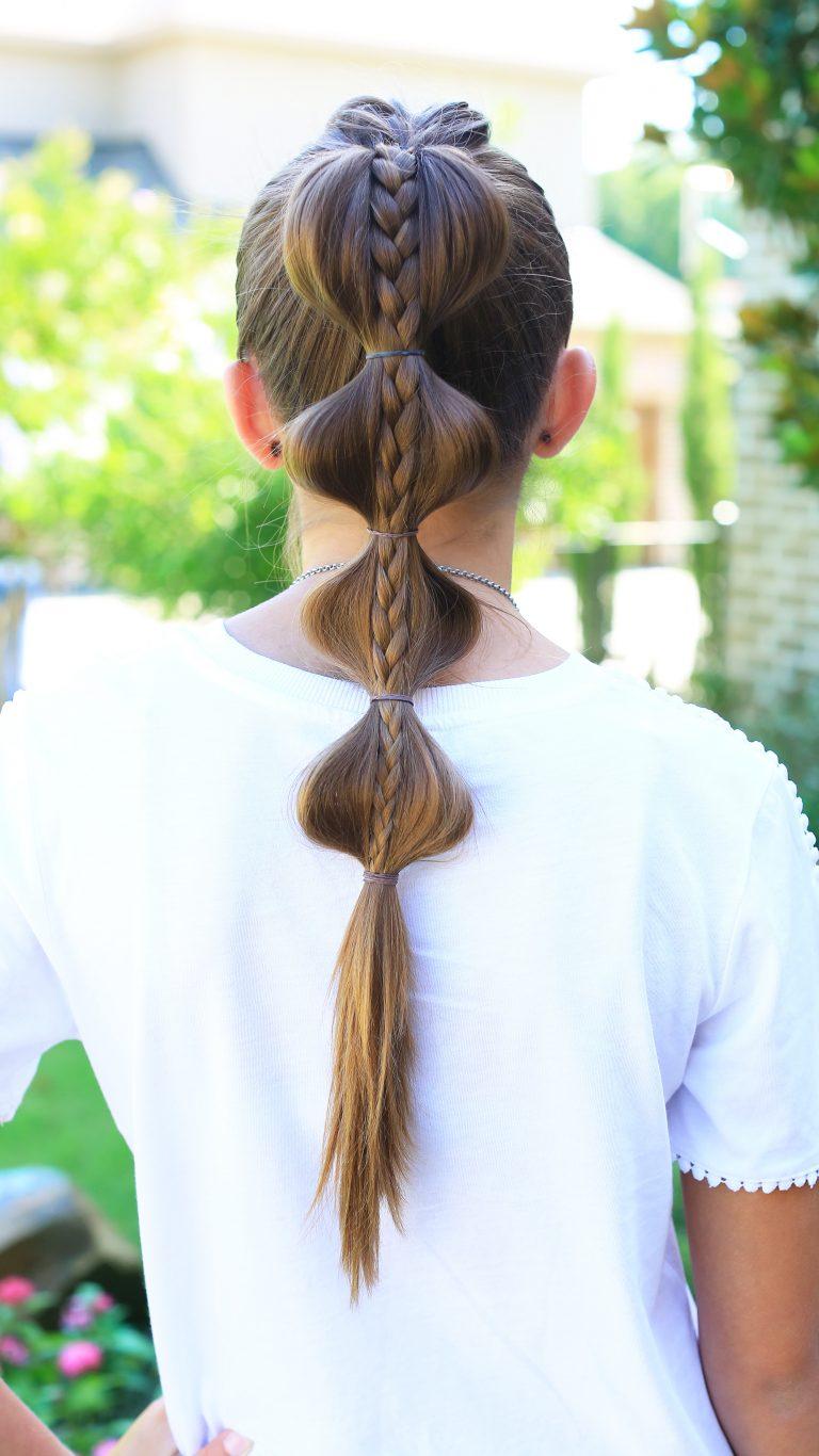 хвост-гирлянда с косой внутри