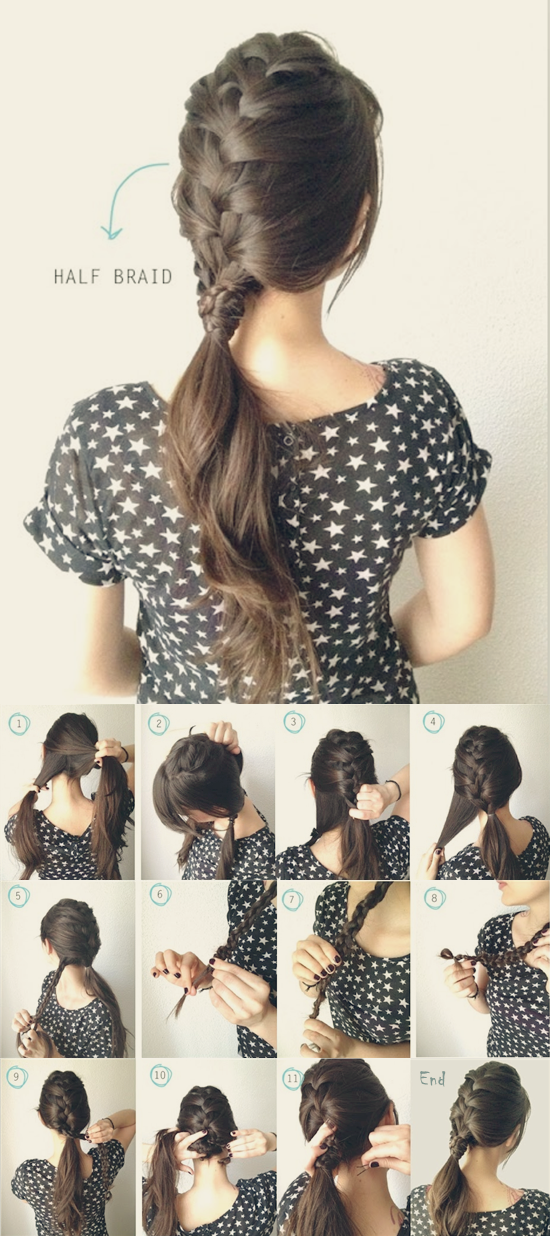 коса-хвост