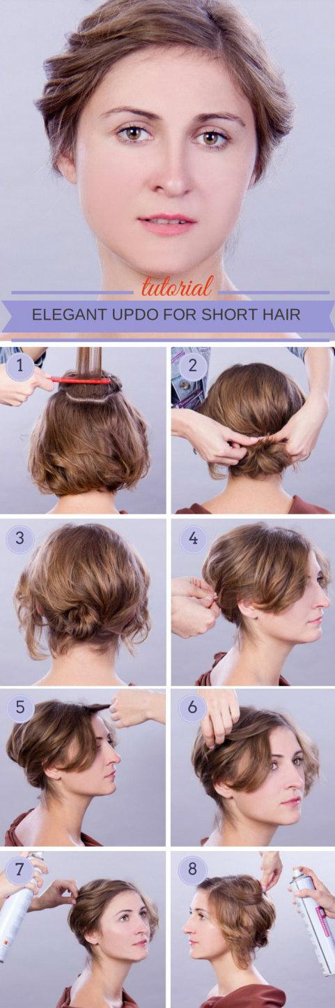 укладка на короткие волосы фото 11