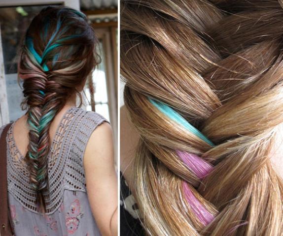 цветные косы фото 2