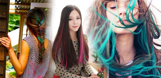 цветные пряди фото 1