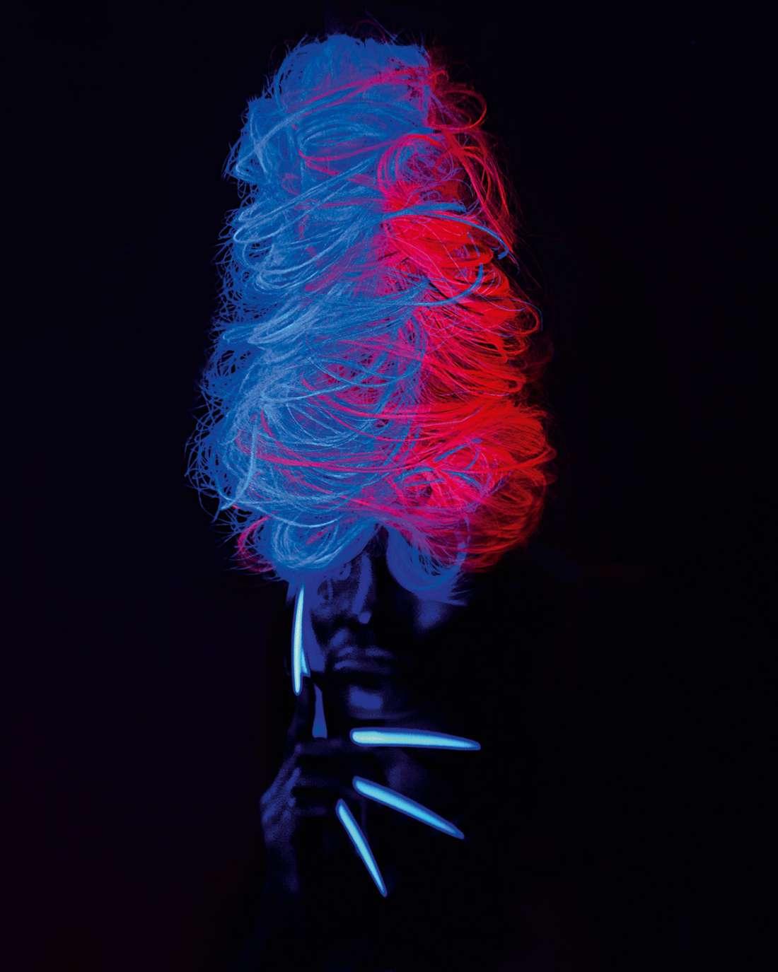 светящиеся волосы: фото 36