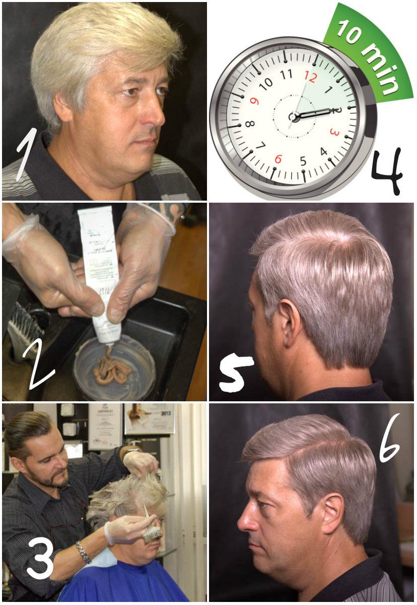 как делается камуфлирование волос