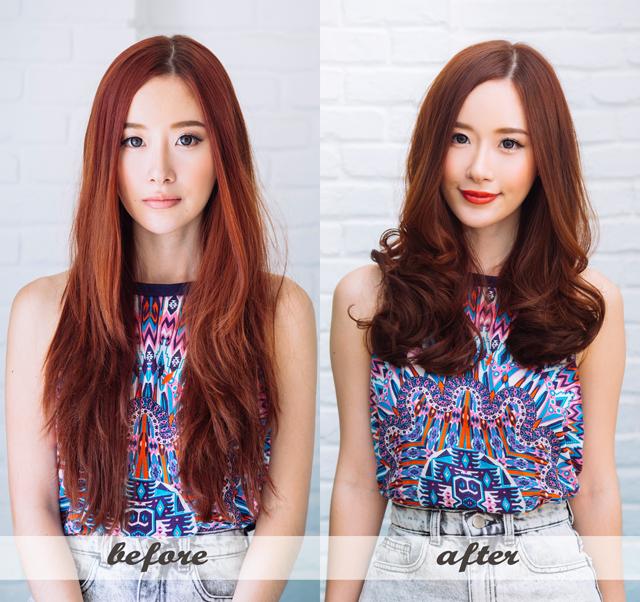 объемная стрижка до и после