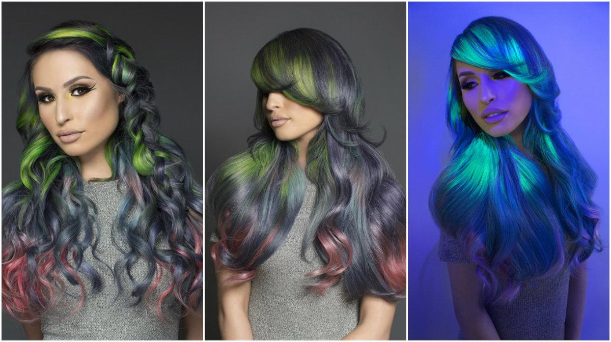 светящиеся волосы: фото