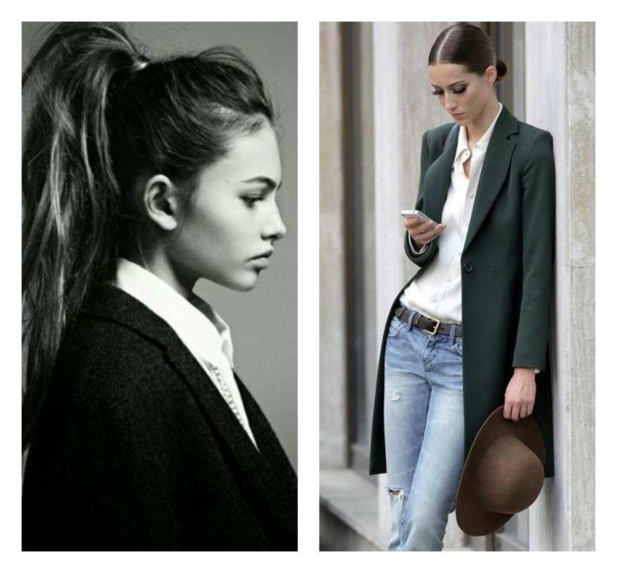 деловой стиль и женская прическа
