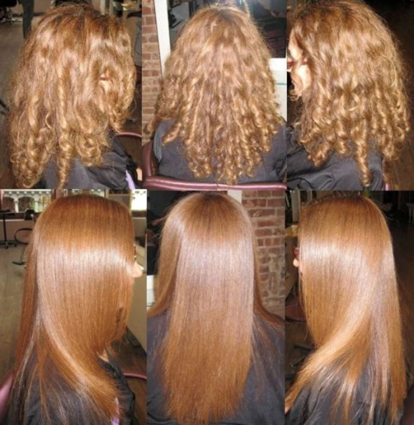 выпрямление волос химией